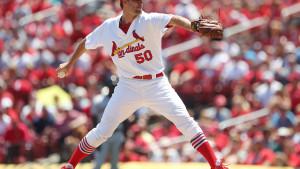 Adam Wainwright Pitcher for the St. Louis Cardinals by Bill Greenblatt