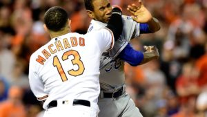 Machado punches Ventura after HBP, triggers brawl